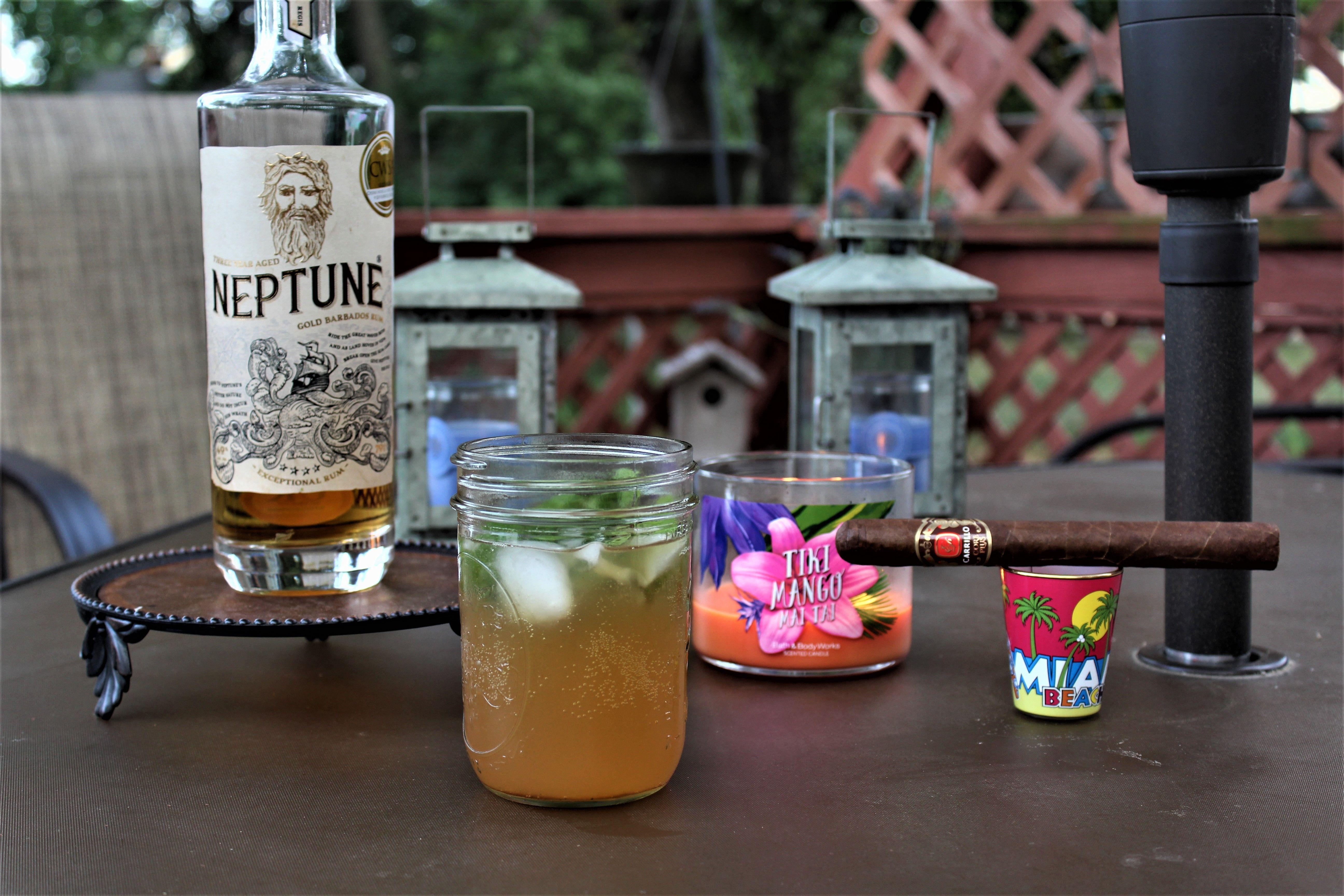 Rum Drinks? Yep, we love 'em! We made a dark rum mojito
