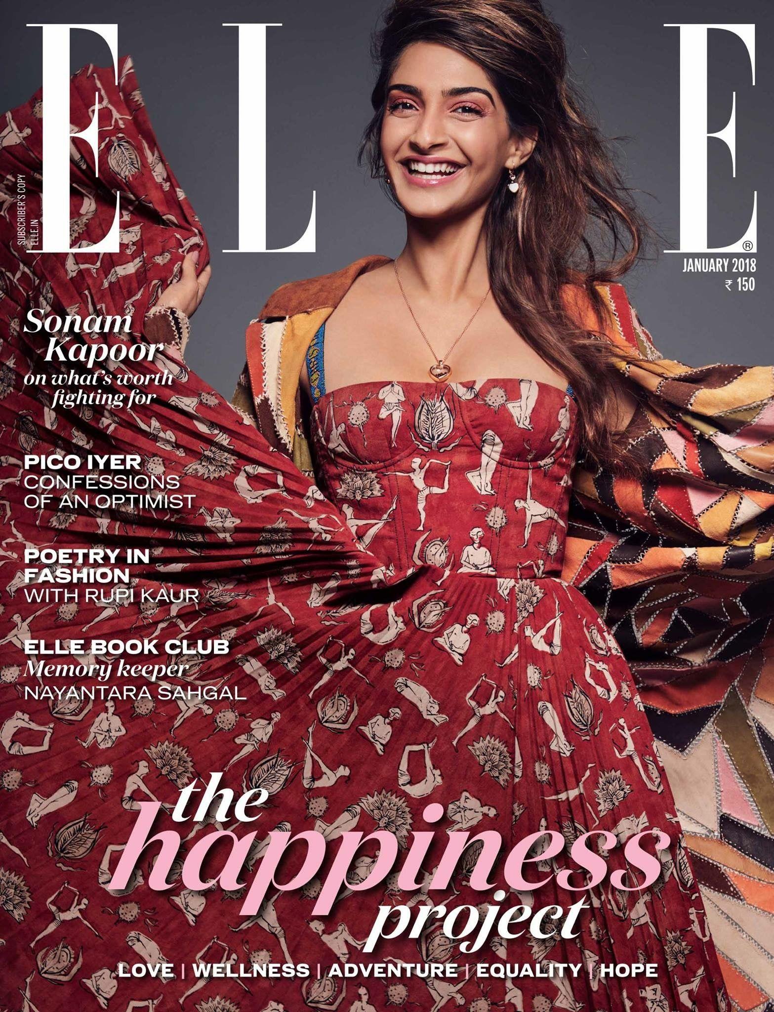 Elle India January 2018 Sonam Kapoor On The Magazine Cover Sonam Kapoor Poetry Fashion Fashion