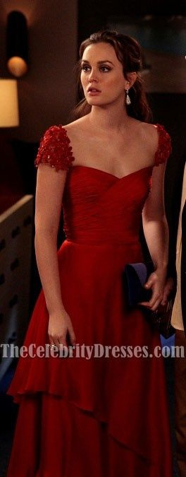 Leighton Meester Red Prom Dress Evening Gown In Gossip Girl 5 $150 - more → http://pattyfashiondegreesblog.blogspot.com/2012/08/leighton-meester-red-prom-dress-evening.html