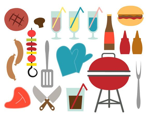 Backyard BBQ clipart for scrapbooking, Bbq, barbeque clipart ...
