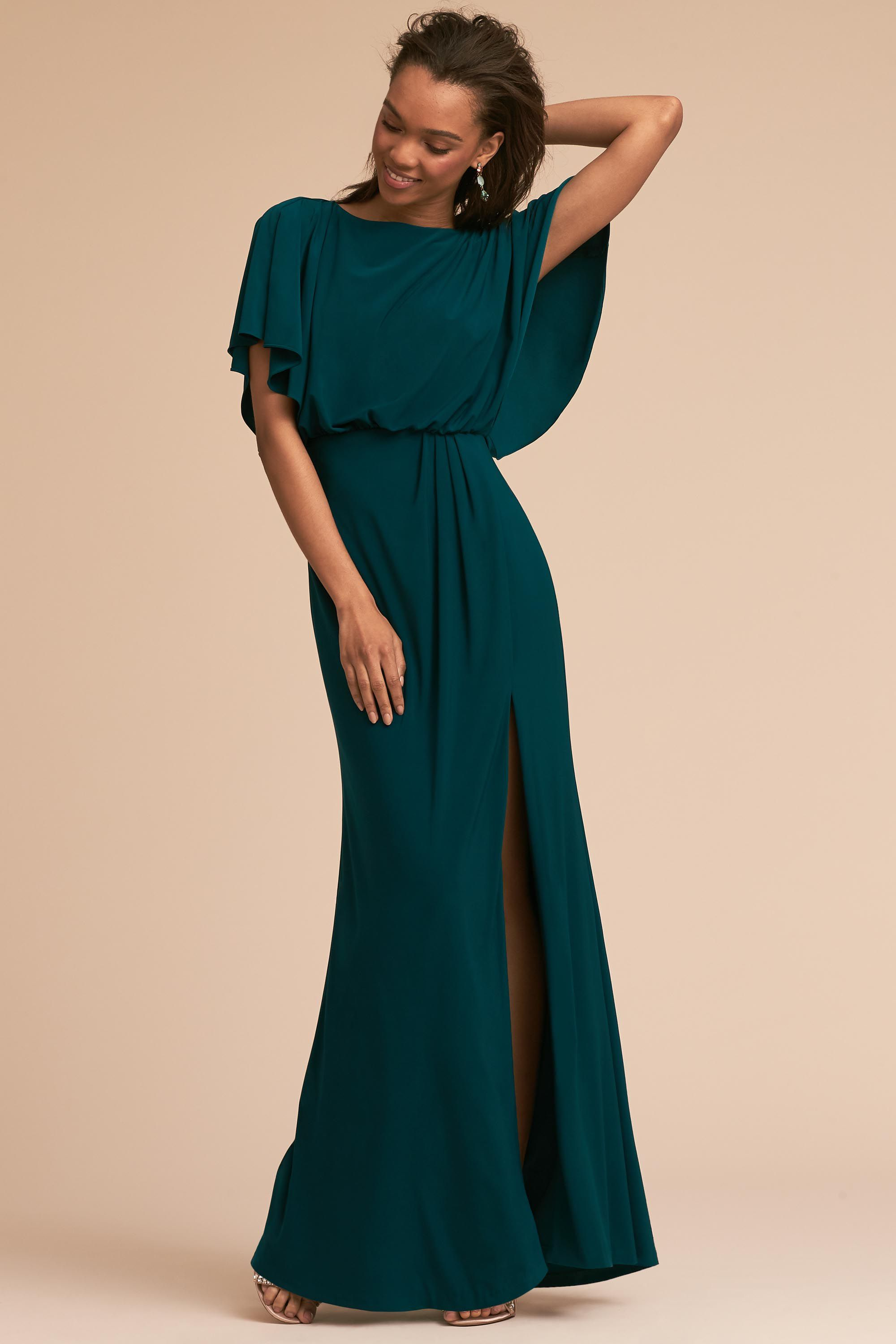 Green dress for wedding party  Lena Dress from BHLDN in Port Wine  Wedding Party  Pinterest