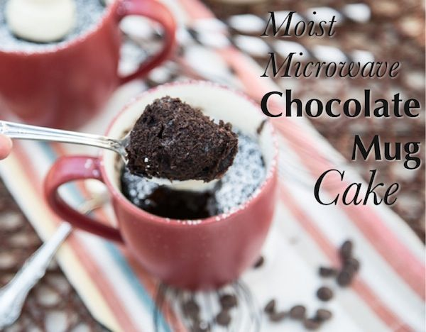 Moist Microwave Chocolate Mug Cake