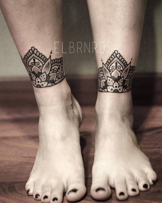 027a493f0 Ankle Cuff Tattoo, Ankle Tattoo Mandala, Henna Ankle, Arm Tattoo, Ankle  Tattoo