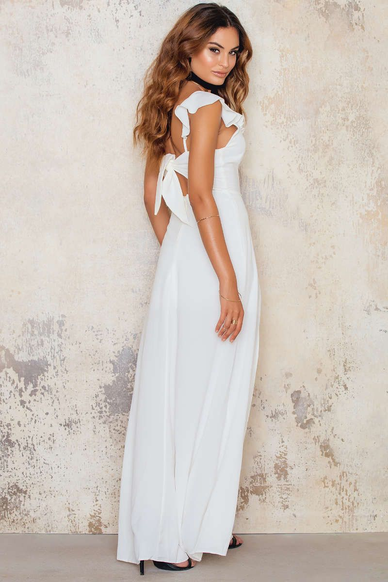 Look at this beauty the crepe maxi dress with front side split by