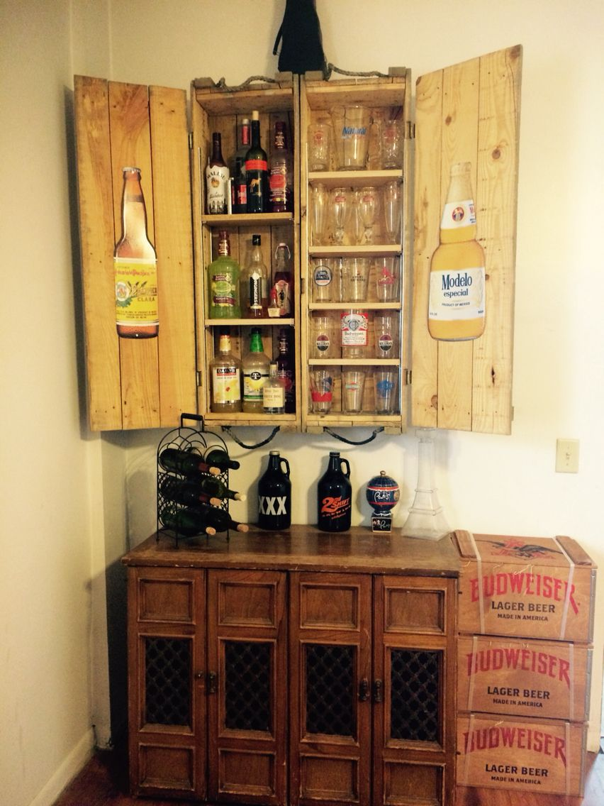 Attractive Old Ammunition Boxes Converted Into A Cabinet