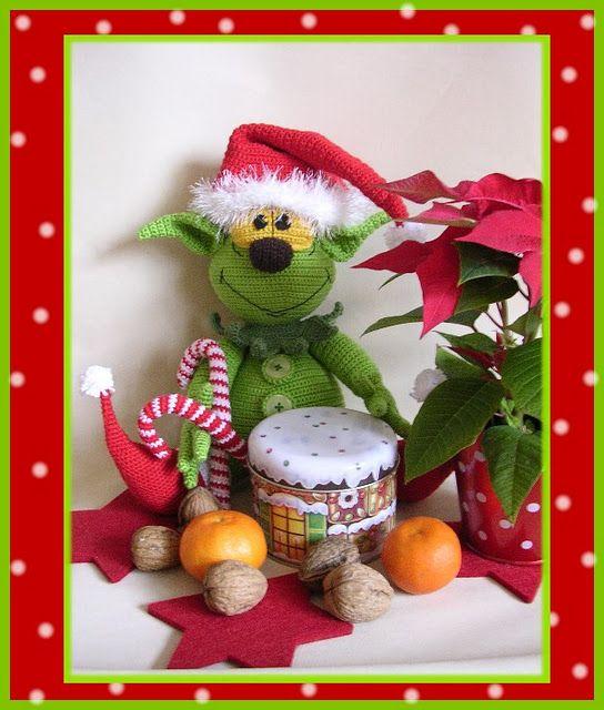 Grinch by Babsie\'s Hook | knuffels | Pinterest | Häkeln und Weihnachten