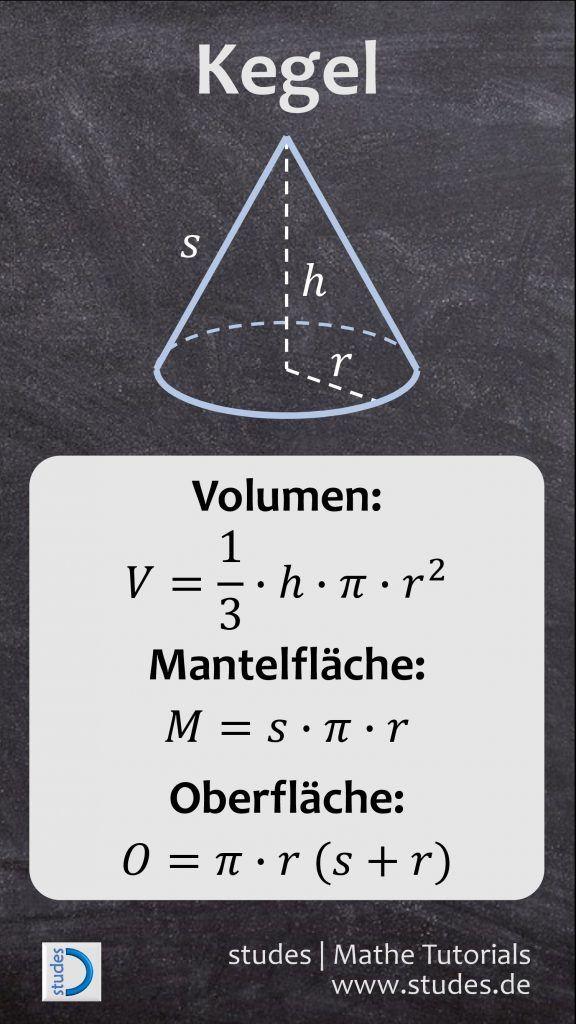 Formel mantelflache kegel herleitung