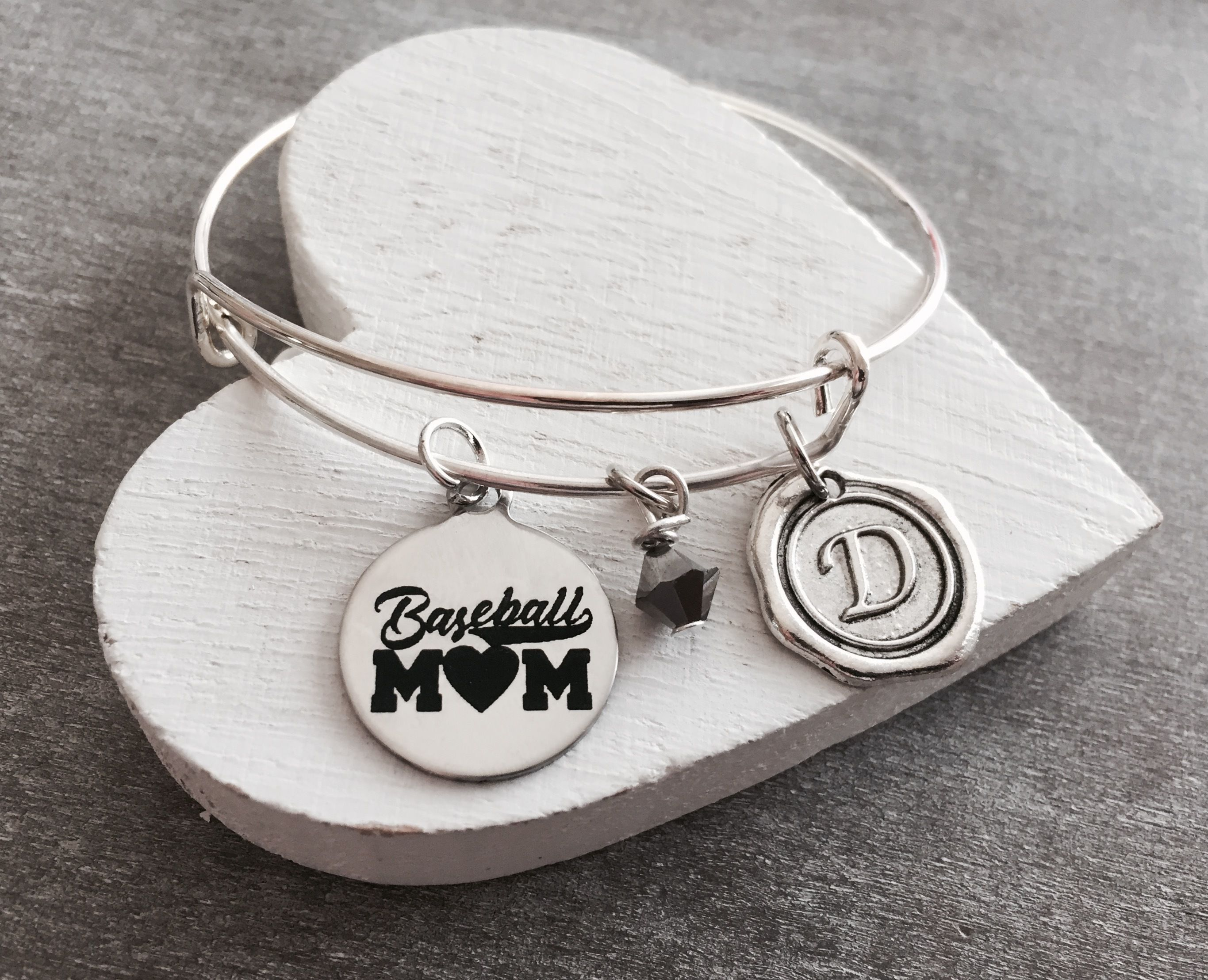 Baseball Mom Gifts For Silver Bracelet Charm Jewelry Keepsake Sports League
