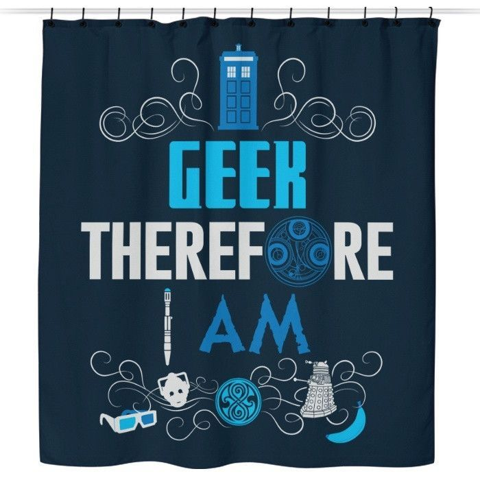 Who S Geeky Shower Curtain With Images Geeky Shower Shower Curtain