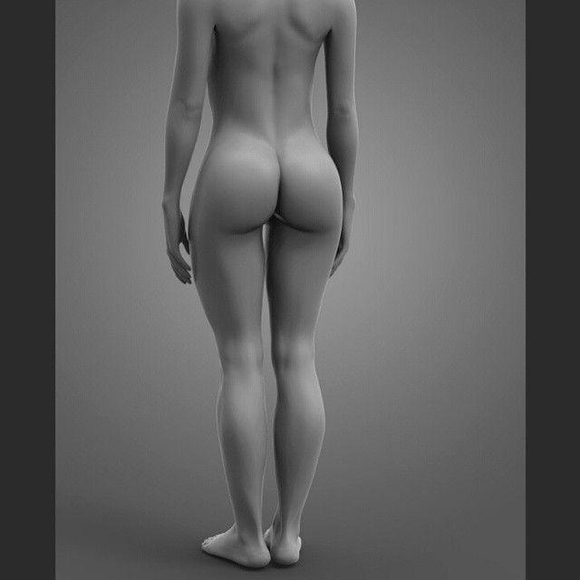 girl #3d #zbrush #sculpting #nude #body #keyshot #digital