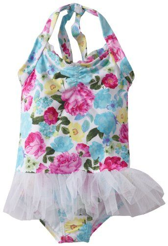 607564e6ff Seafolly Little Girls' CG Ballerina Tutu, White, 2. Halter tie. Tulle