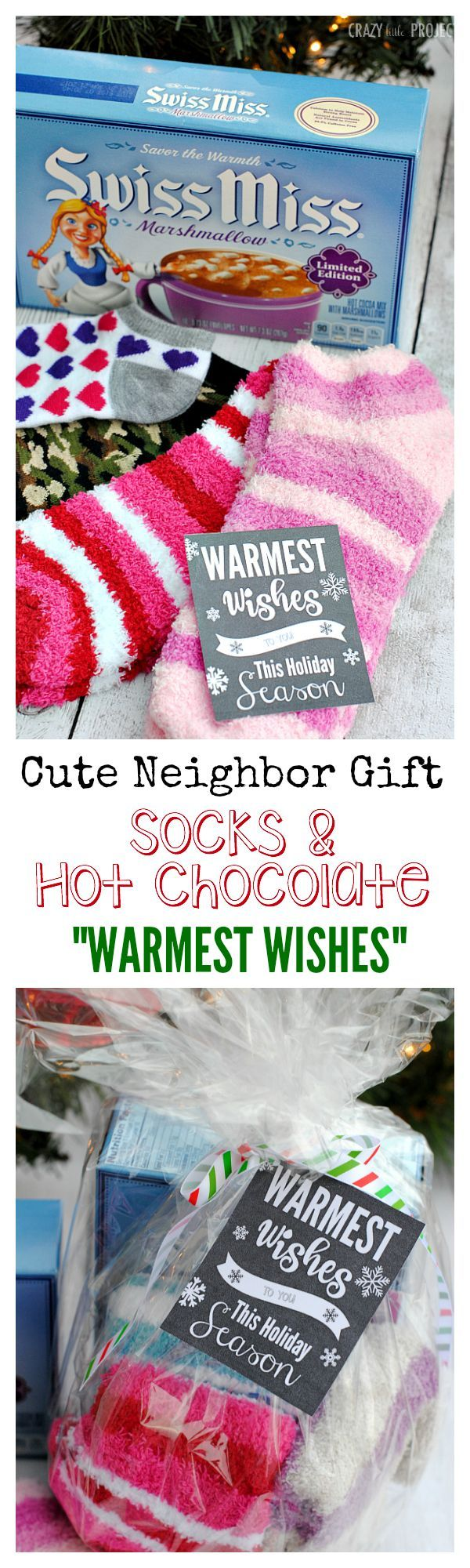 Warmest Wishes Neighbor Gift Idea #cheapgiftideas