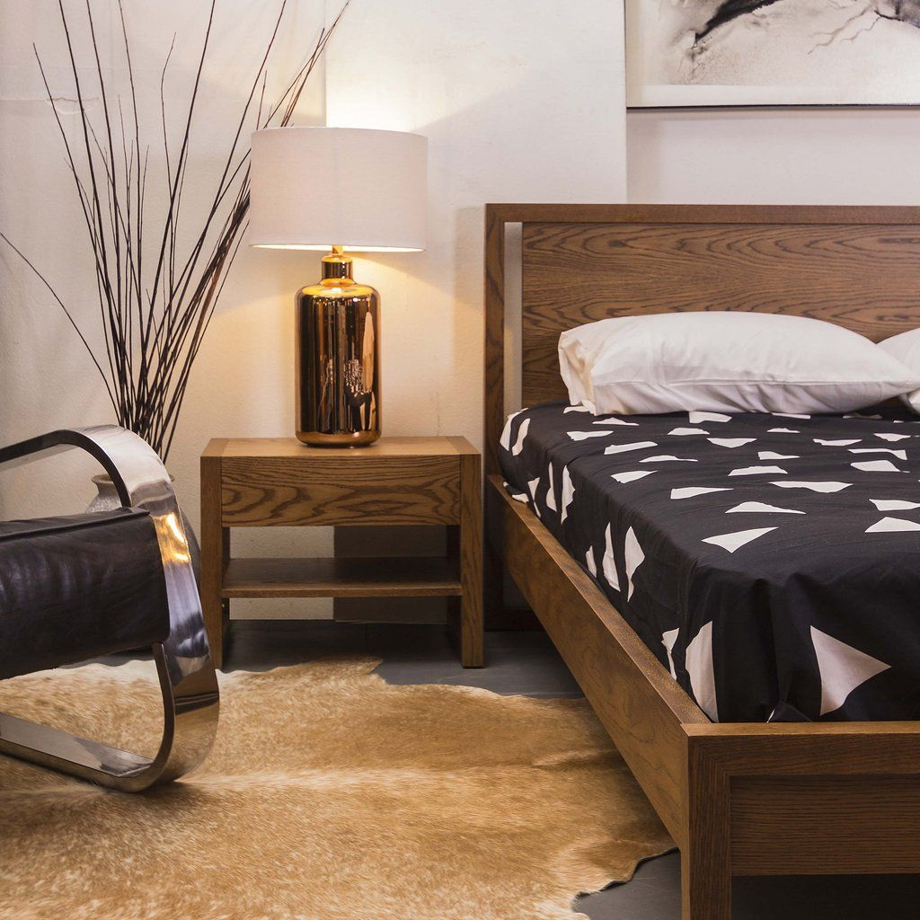 The loopy bedroom range by dellis furniture shown in american oak
