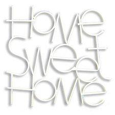 Metallic Sweet Home Wall Decor