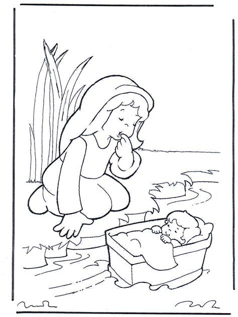 miriam from the bible for kids | Bible coloring pages / Old ...