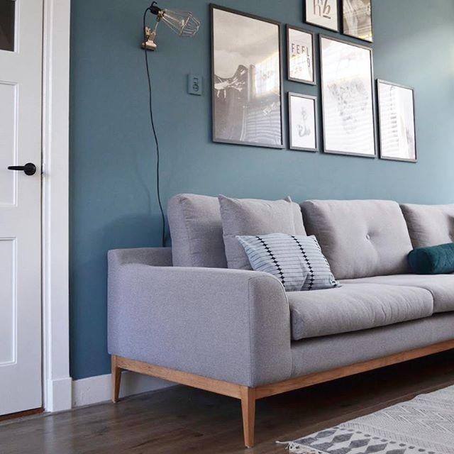 Kleur muur vtwonen petrol blue | woonkamer : teak en kleur ...
