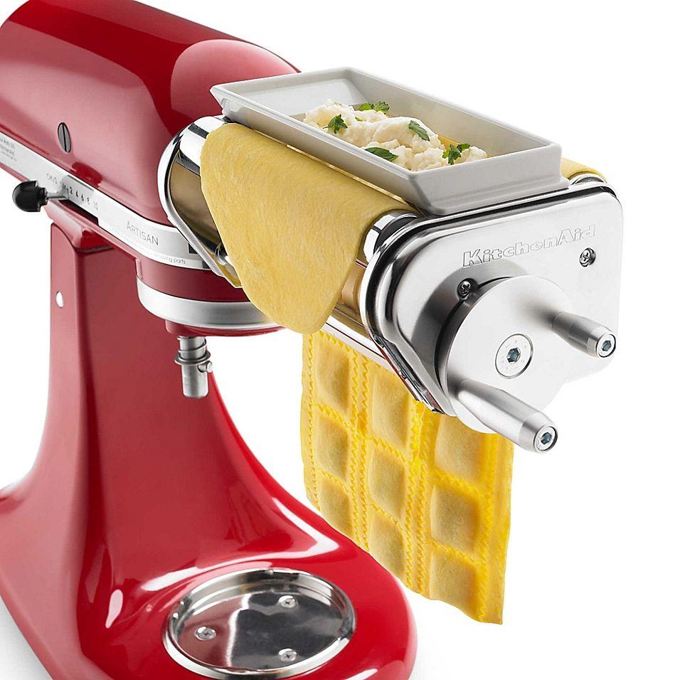 Kitchenaid Ravioli Maker Attachment Stainless Steel Kitchen Aid Attachments Kitchen Aid Kitchen Aid Mixer Attachments