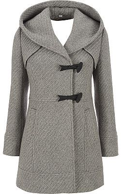 This will be my new fall coat...Jessica Simpson Tweed Hooded Coat ...