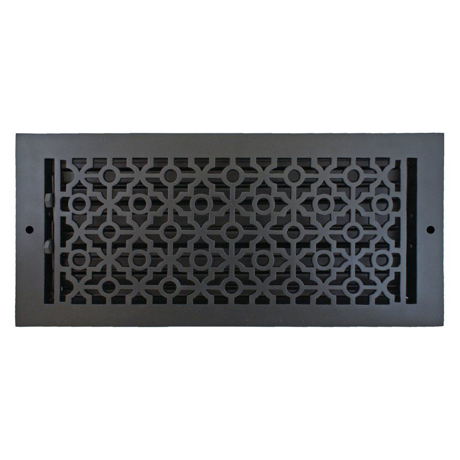 7 5 X 15 5 Pasadena Wall Register In Black Vent Covers Cover Wall Registers