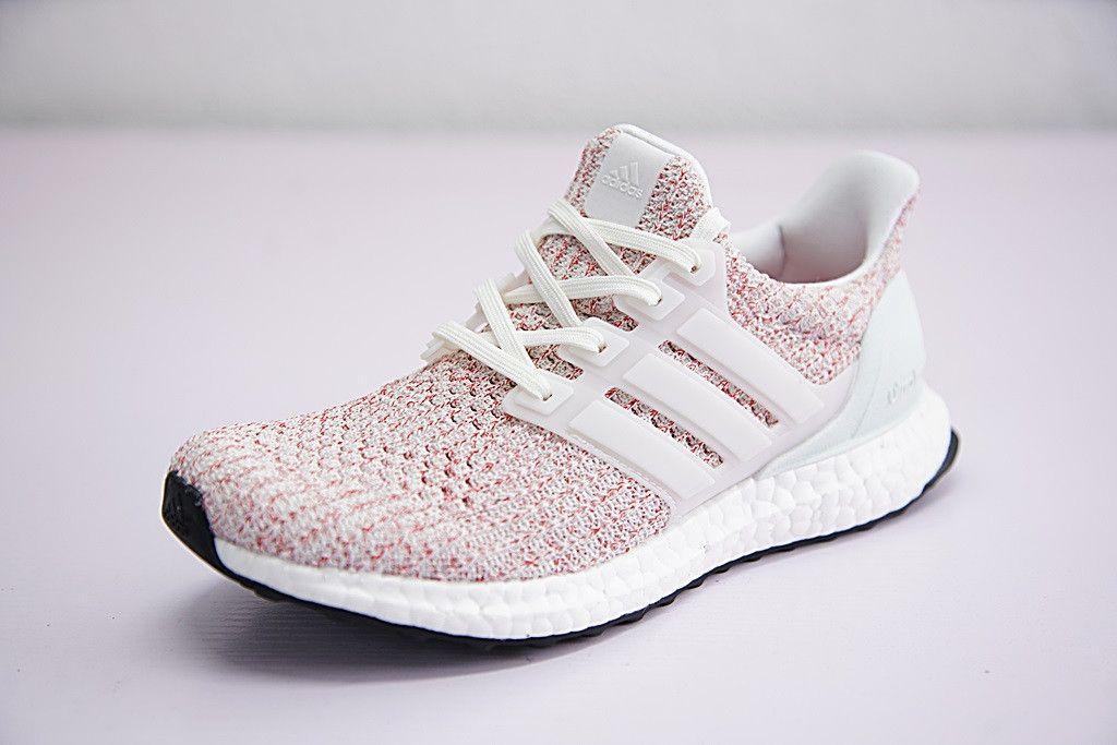 adidas ultra boost 4.0 女款針織面爆米花慢跑鞋 淺彩虹白