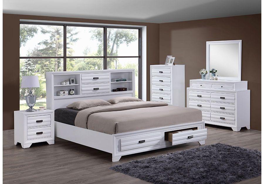 Trifecta White 5 Pc King Bedroom Bedroom Sets Queen Bedroom Set