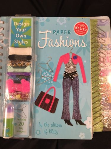 Klutz Paper Fashions Design Your Own Styles Ages 8 and Up new | eBay
