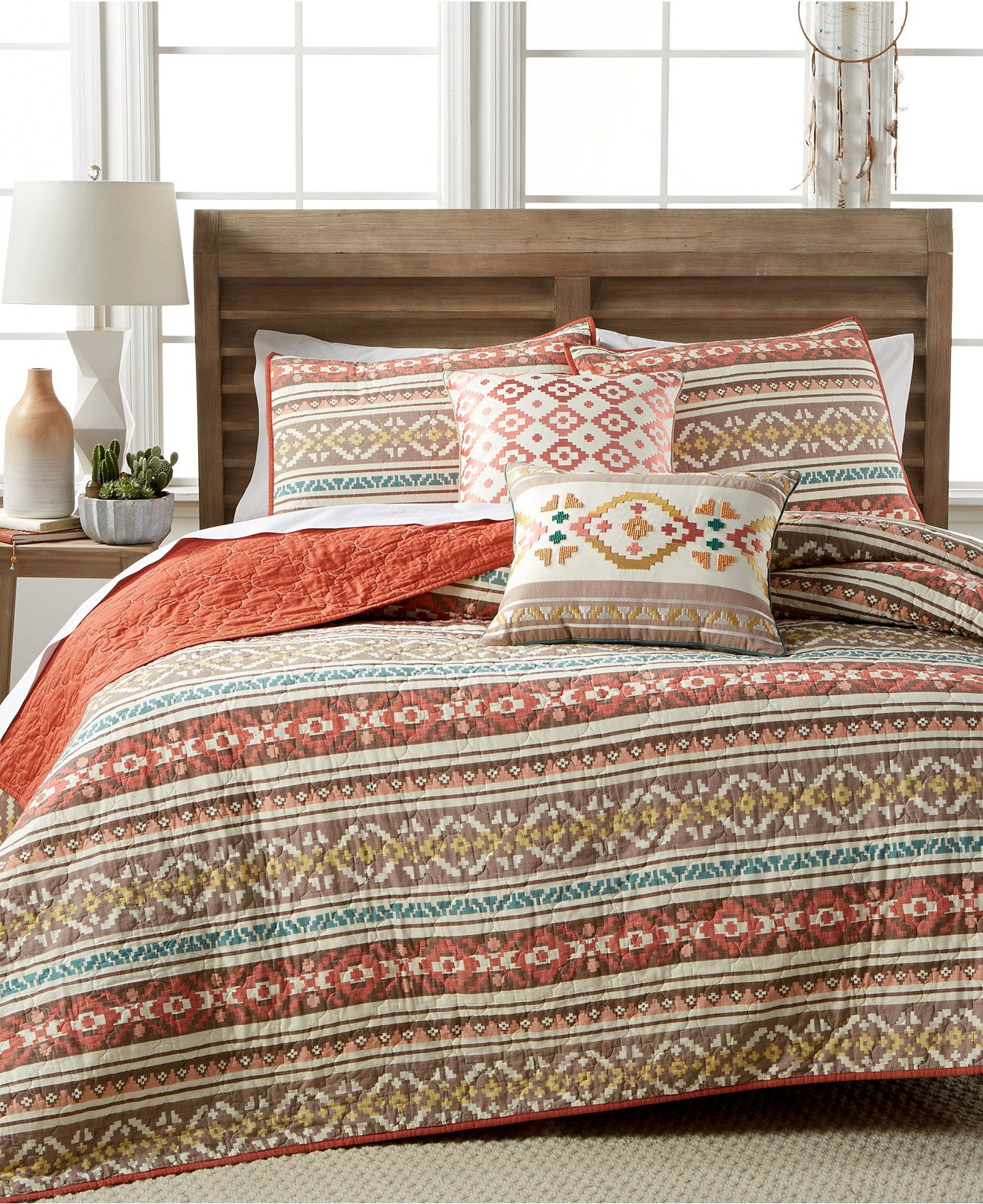 Martha Stewart Collection Silver City Stripe Quilts Only