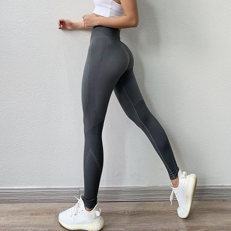 Womens High Waist Yoga Fitness Running Jogging Sport Gym Pants Trousers LC
