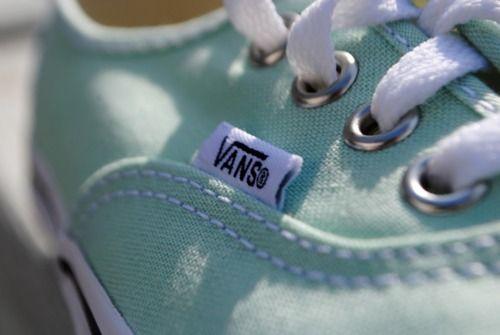 mint vans shoes!