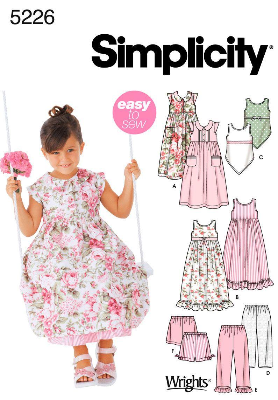 Pattern 5226 Simplicity image | 4-H | Pinterest | Costura y Vestiditos