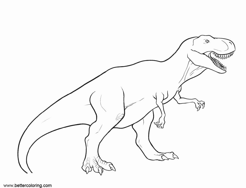 Free Printable T Rex Coloring Pages Www Robertdee Org
