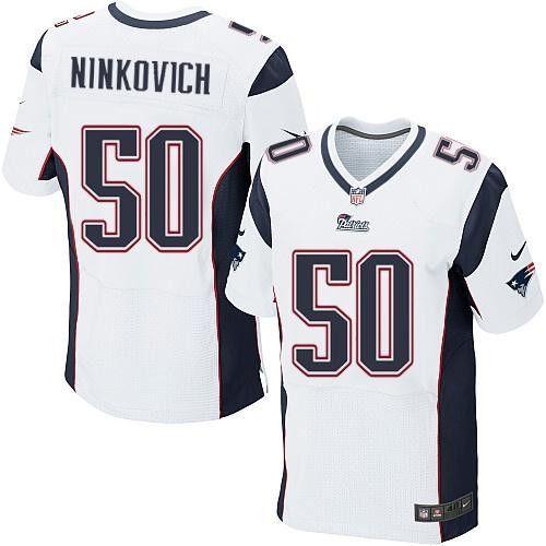 quality design 45203 76692 Rob Ninkovich # 50 Nike Elite NFL football jersey ( white ...