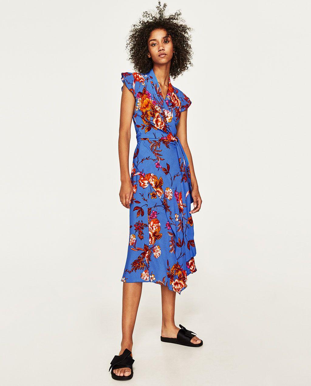 Zara asymmetrisch langes kleid