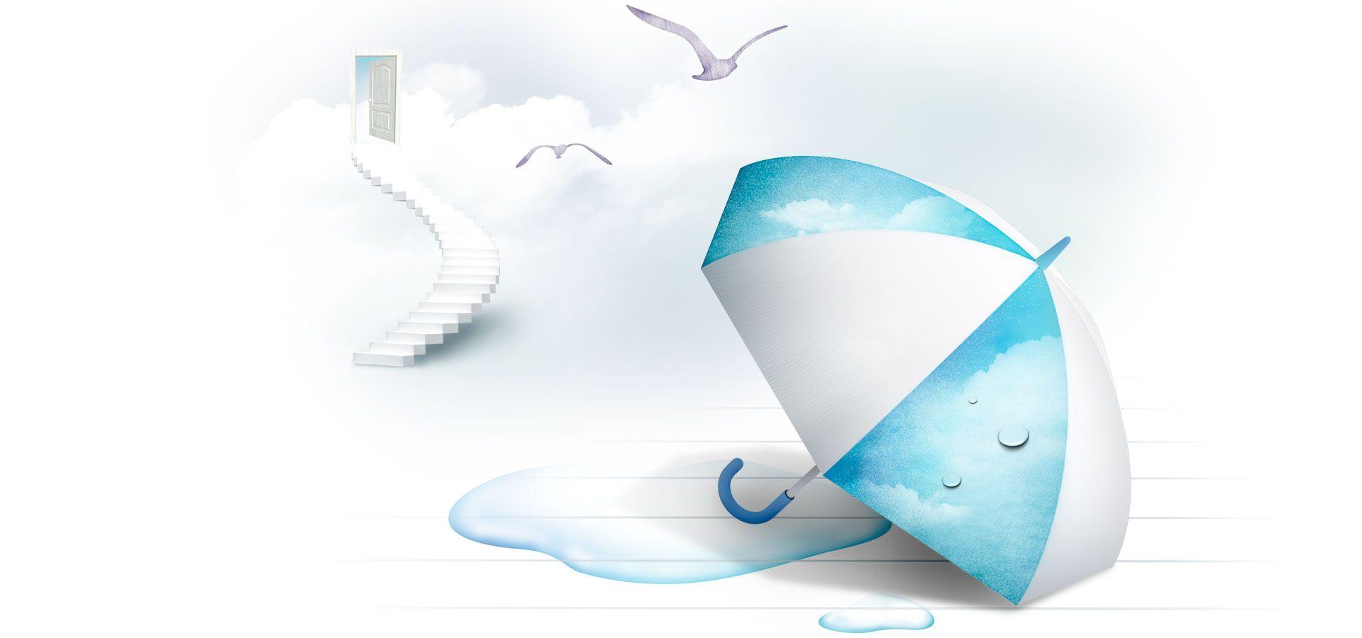 مظلة غلوب كرتون بسيطة الخلفية Simple Backgrounds Cartoon Background Umbrella