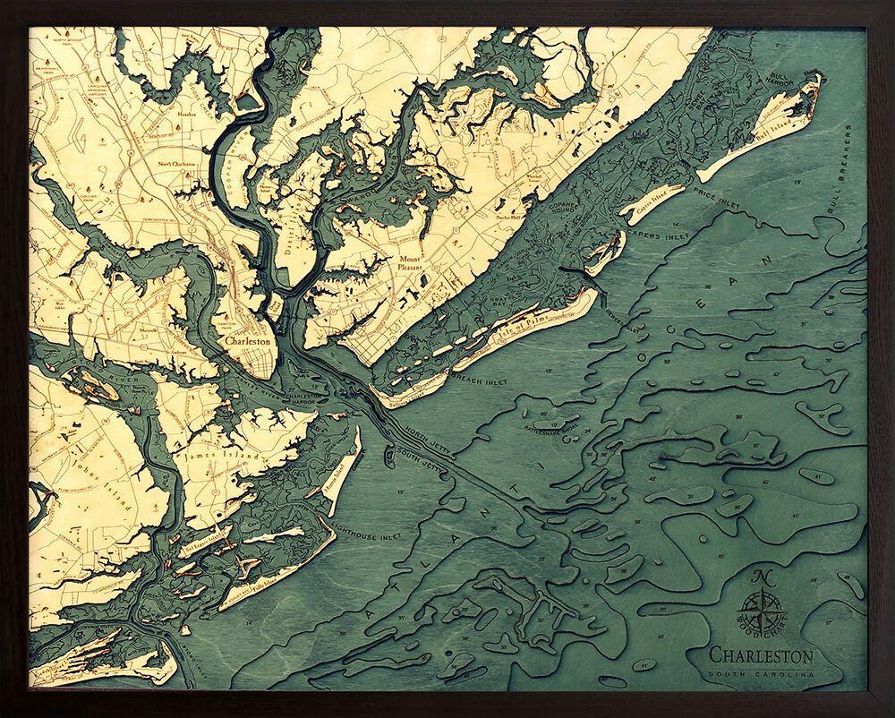 Bathymetric Map Charleston South Carolina 105 best