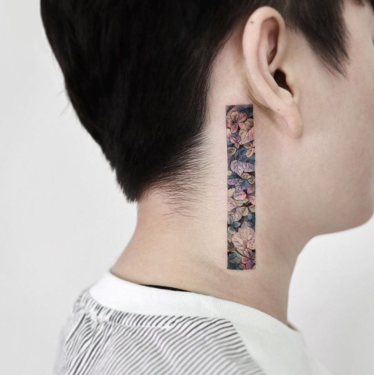 Floral Neck Tattoo By Sigak Neck Tattoo For Guys Neck Tattoo Tattoos For Guys
