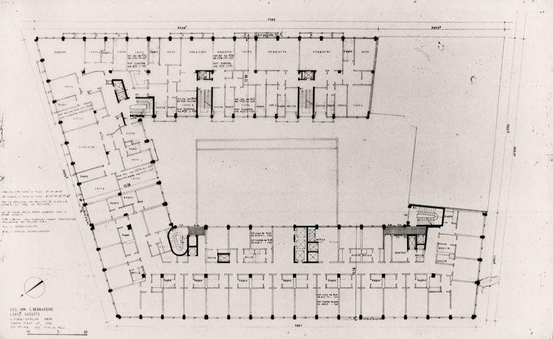 Eccezionale Edificio per albergo e abitazioni 1961 - 1965 /Luigi Figini, Gino  PL32