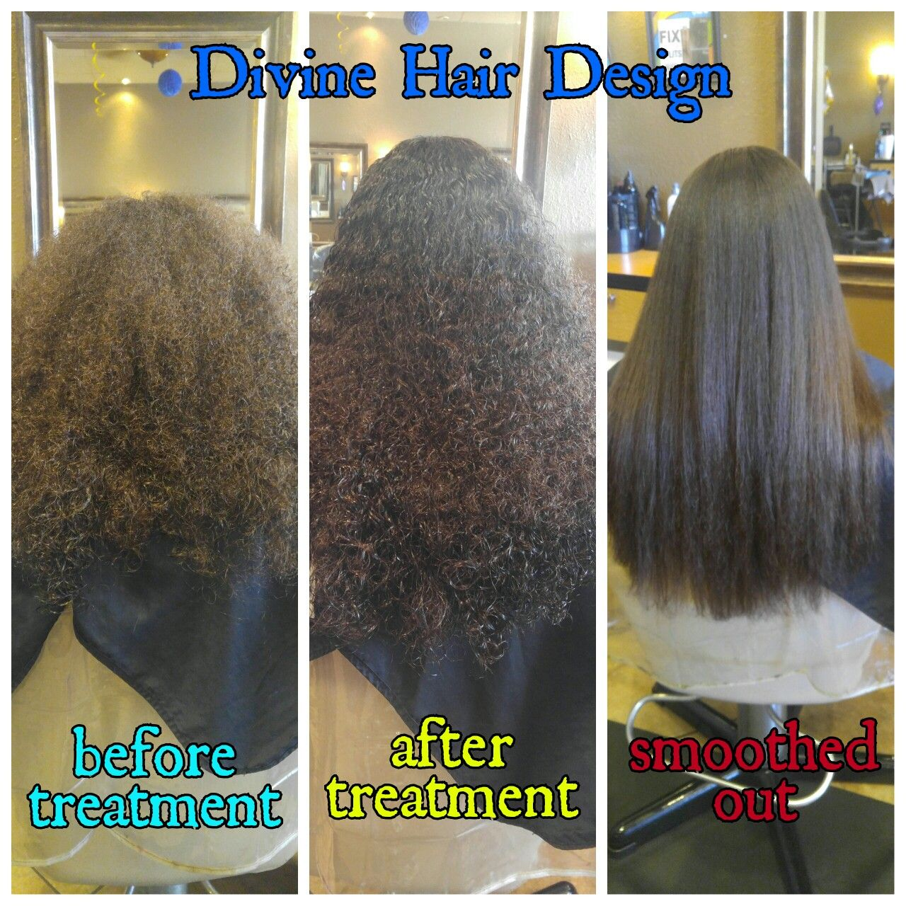 Brazilian Blowout On Very Curly Hair Before And After Hair In