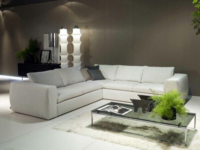 le canap dangle arrondi comment choisir la meilleure variante pour votre salon archzinefr - Salon Avec Carrelage Blanc
