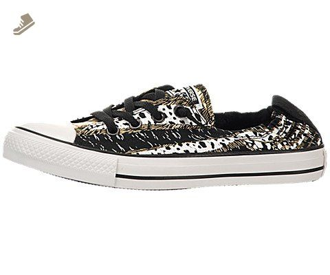 be226f3237cf CONVERSE Womens Chuck Taylor Shoreline Animal Print Sneaker  (Black White Gold 6.0 M) - Converse chucks for women ( Amazon Partner-Link)