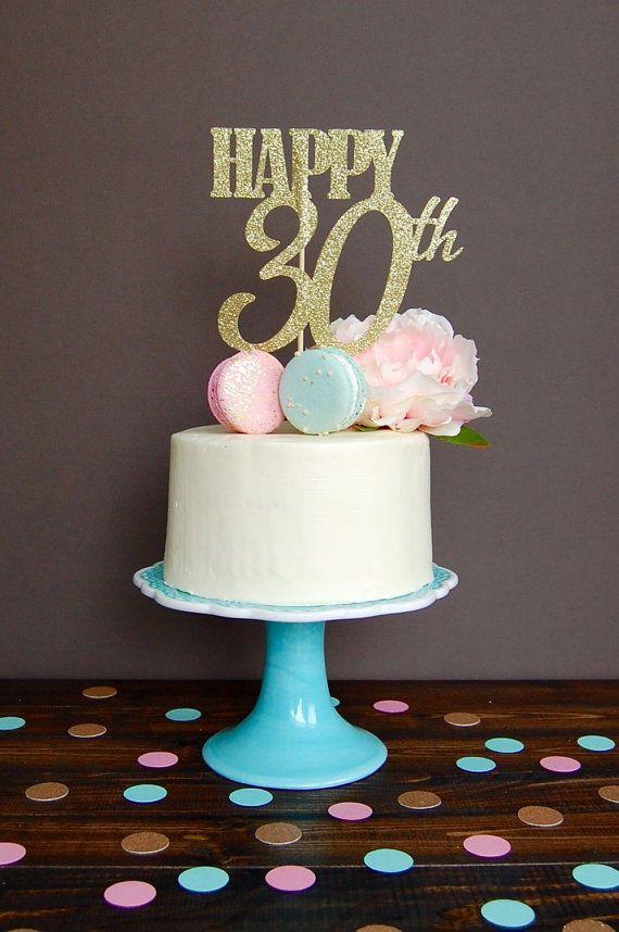 2 99 Gbp Glitter Gold 30th 40th 50th 60th Cake Topper Happy Birthday Party Photo 30th Birthday Cake Topper 60th Birthday Cake Toppers Birthday Cake Toppers