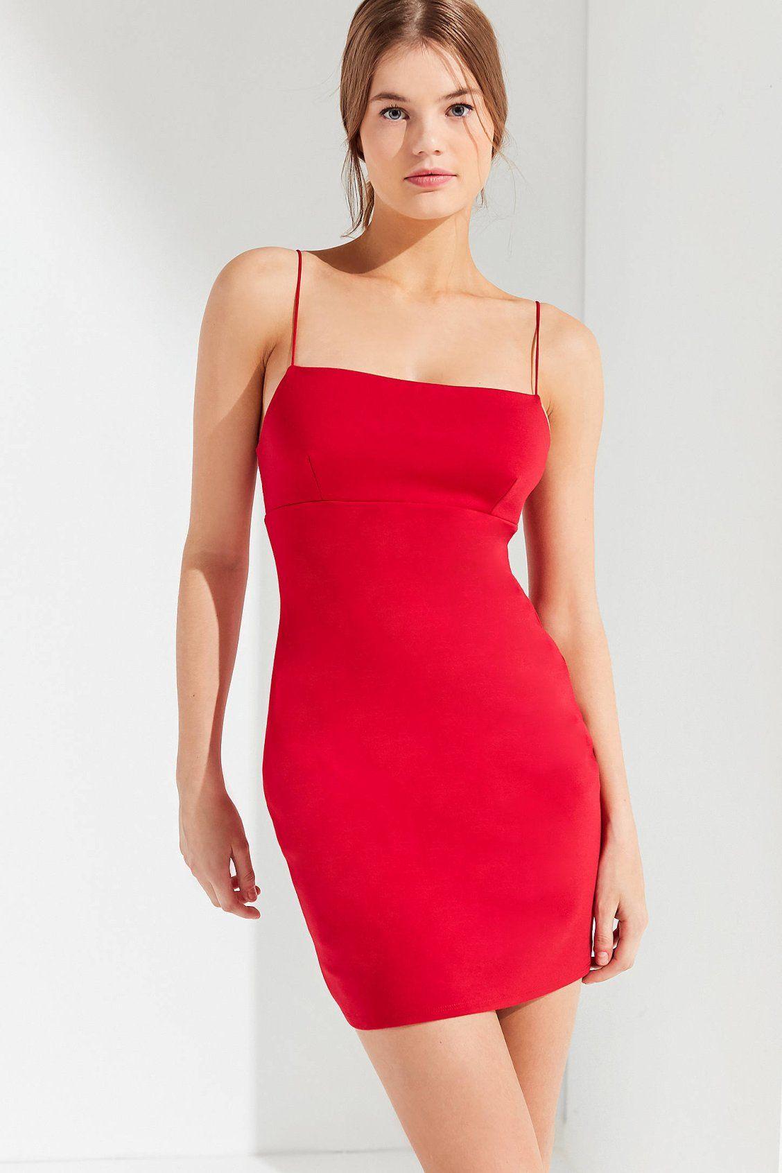 1380d9d3547b35 UO Tai Empire Waist Ponte Mini Dress