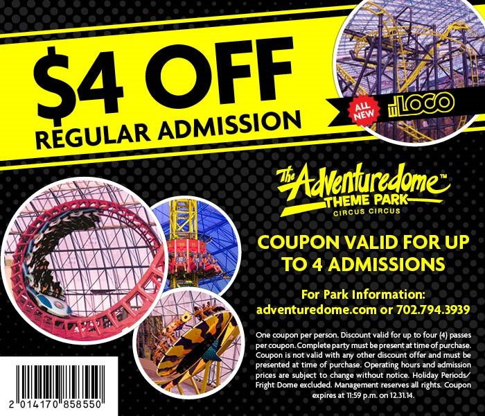 Adventuredome Coupons 2014 Discount Codes & Promotion