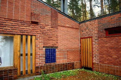 Appareillage briques (Summer House, Alvar Aalto)