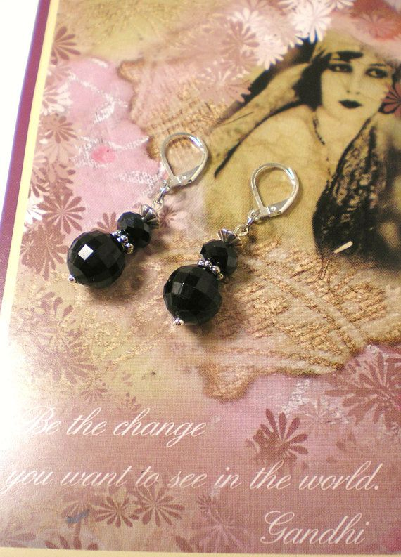40 OFF  Past Midnight  Handmade Silver Earrings by NatureAngels, $11.00