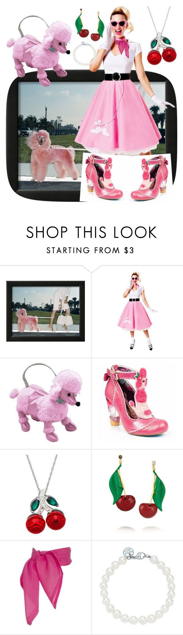 """One Big Pink Poodle"" by creation-gallery ❤ liked on Polyvore featuring Irregular Choice, Erickson Beamon and Tiffany & Co."