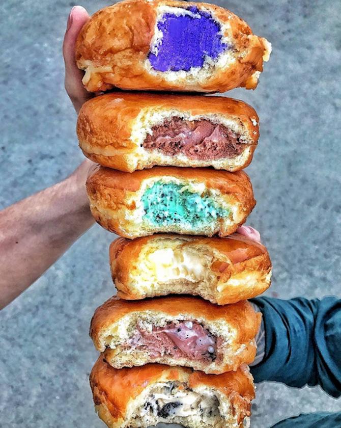 Ice Cream Doughnuts Are the Breakfast/Dessert of Champions #icecreamsandwich