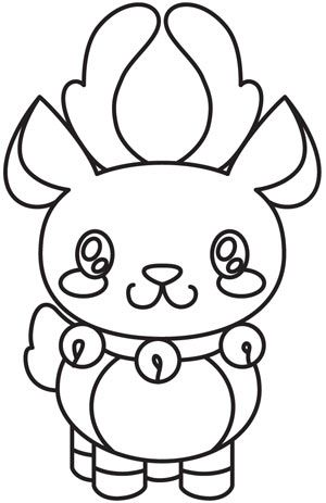 Kawaii Christmas - Reindeer | Urban Threads: Unique and Awesome Embroidery Designs