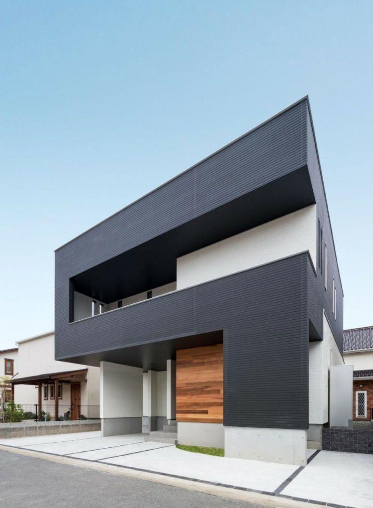 original diseño de fachada color gris casa Gabi Pinterest - fachadas originales