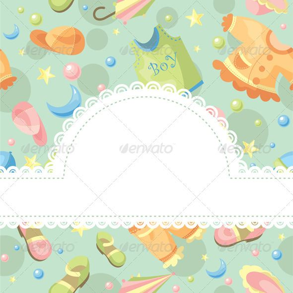 Baby Frame, Vector Graphics And